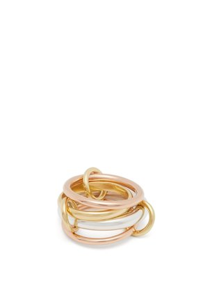 Lyra 18kt gold and silver ring