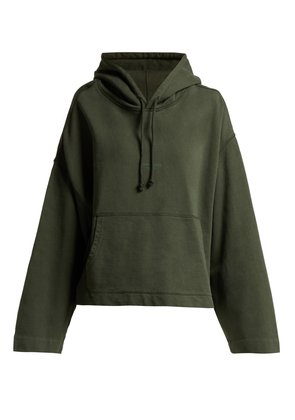 Joghy cropped cotton hooded sweatshirt