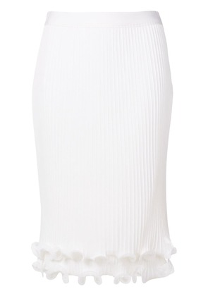 Givenchy pleated ruffle pencil skirt - White