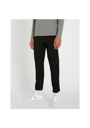 Striped slim-fit tapered stretch-wool cropped trousers