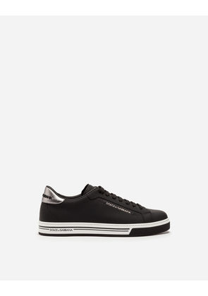 Dolce & Gabbana Sneakers and Slip-On - RUBBERIZED CALFSKIN ROMA SNEAKERS WHITE