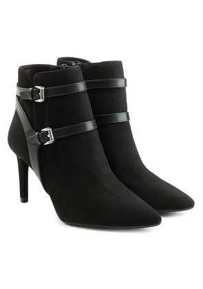 Michael Michael Kors Suede Ankle Boots with Leather Straps