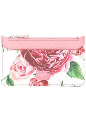 Dolce & Gabbana rose print coin purse - Pink & Purple