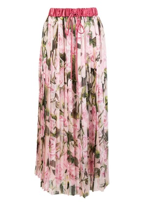 Dolce & Gabbana floral pleated skirt - Pink & Purple