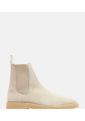 Shaggy Suede Chelsea Boots