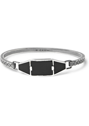 Bottega Veneta - Oxidised Sterling Silver, Enamel And Onyx Bracelet - Silver