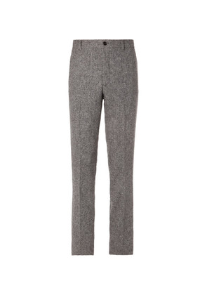 Thom Browne - Slim-fit Cropped Wool And Mohair-blend Trousers - Gray