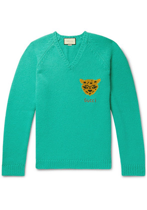 Gucci - Oversized Intarsia Wool Sweater - Green