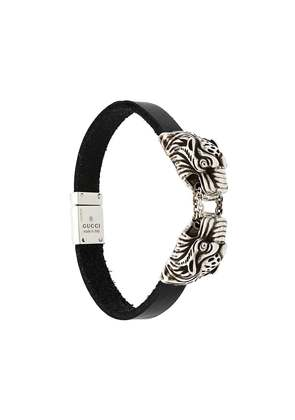 Gucci engraved tiger's head bracelet - Black