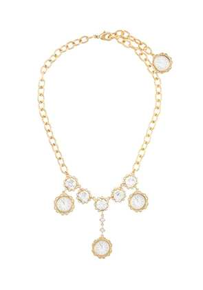 Dolce & Gabbana clock pendant necklace - Metallic