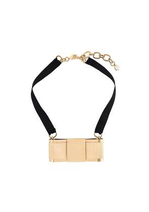 Dolce & Gabbana bow necklace - Black