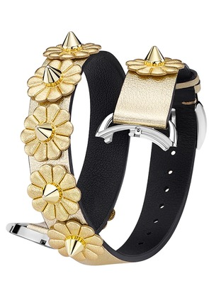 Fendi Selleria Strap You bracelet - Metallic