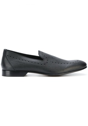 Dolce & Gabbana punch hole detailed loafers - Black