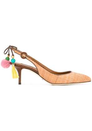 Dolce & Gabbana Bellucci raffia pumps - Brown