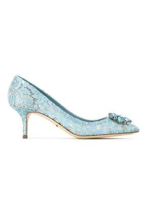 Dolce & Gabbana Pump in Taormina lace with crystals - Blue