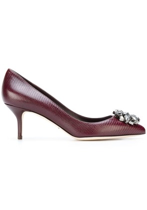 Dolce & Gabbana classic embellished pumps - Red