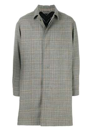 Lanvin single breasted checked coat - Grey