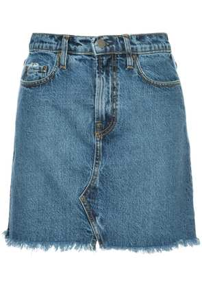 Nobody Denim Piper Pipe Skirt White Edge - Blue
