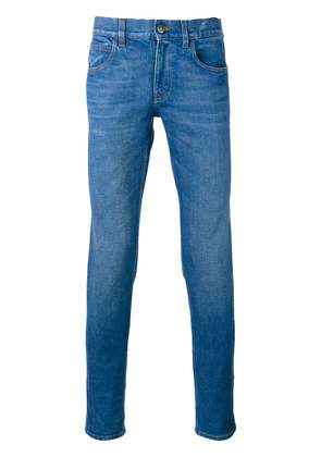 Gucci Web trim jeans - Blue