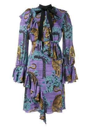 Gucci Bengal Tiger print dress - Pink & Purple