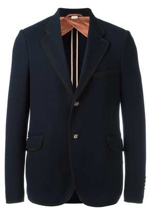 Gucci two button textured blazer - Blue