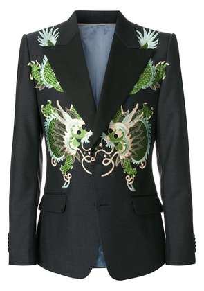 Gucci Heritage jacket with dragons - Black