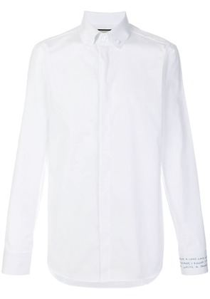 Gucci embroidered cuff shirt - White