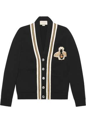 Gucci Wool cardigan with bee appliqué - Unavailable
