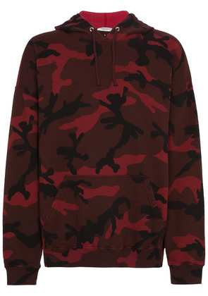 Valentino camouflage printed hoodie - Red