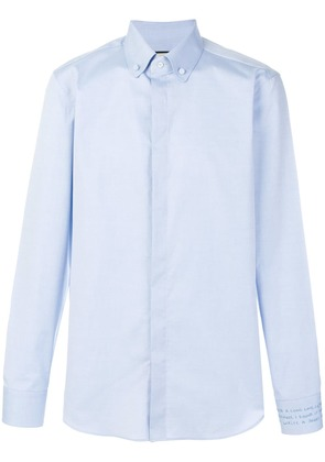 Gucci embroidered shirt - Blue