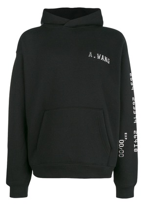 Alexander Wang logo hooded sweatshirt - Black