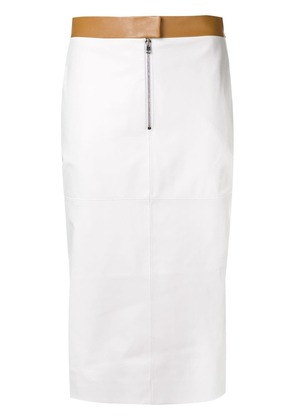 Victoria Beckham contrast pencil skirt - White