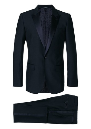 Dolce & Gabbana satin trim dinner suit - Blue