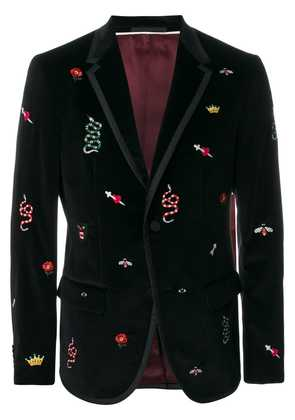 Gucci embroidered Monaco jacket - Black