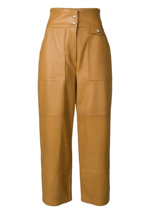 Yves Salomon high-waisted trousers - Brown