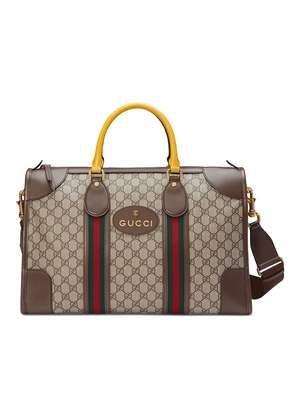 Gucci Soft GG Supreme duffle bag with Web - Brown