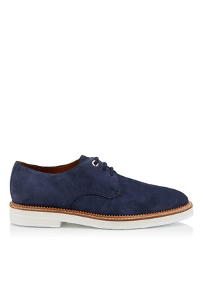 GRAHAM Navy Suede Lace Up Shoes