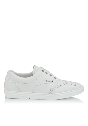 BRIAN White Calf Leather Slip on Trainers