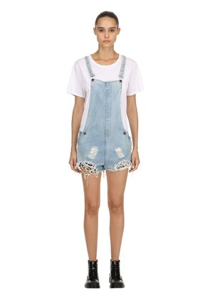 JOAN REPATCHED DESTROYED SHORT OVERALLS