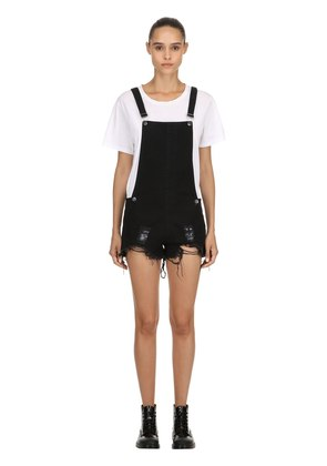 JOAN DESTROYED SHORT OVERALLS