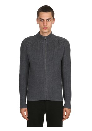 ZIP-UP EXTRA FINE WOOL SWEATER