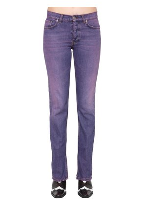 SLIM FIT WASHED COTTON DENIM JEANS