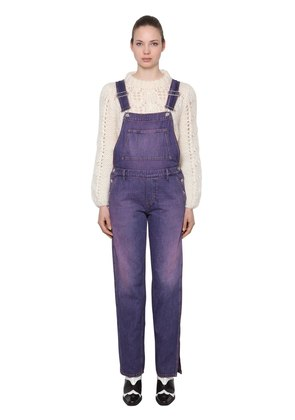 WASHED COTTON DENIM OVERALLS