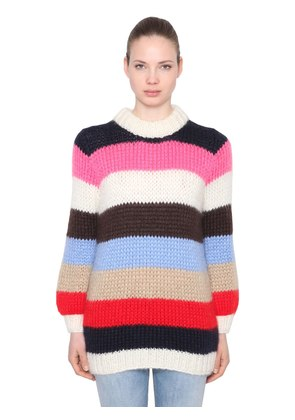 JULLIARD MOHAIR & WOOL KNIT SWEATER