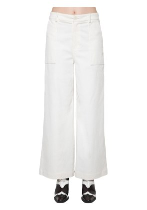 COTTON CORDUROY WIDE LEG PANTS