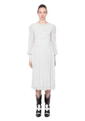 POLKA DOTS VISCOSE MIDI DRESS