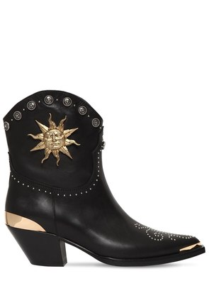 50MM STUDDED LEATHER COWBOY BOOTS