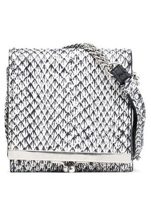 Maison Margiela Woman Python Wallet Black Size -