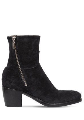 60MM ZIPPED SUEDE ANKLE BOOTS