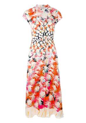 Temperley London Garden Cacti dress - Pink & Purple